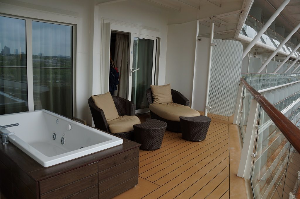 Celebrity Eclipse Penthouse Suite 1611 Balkon