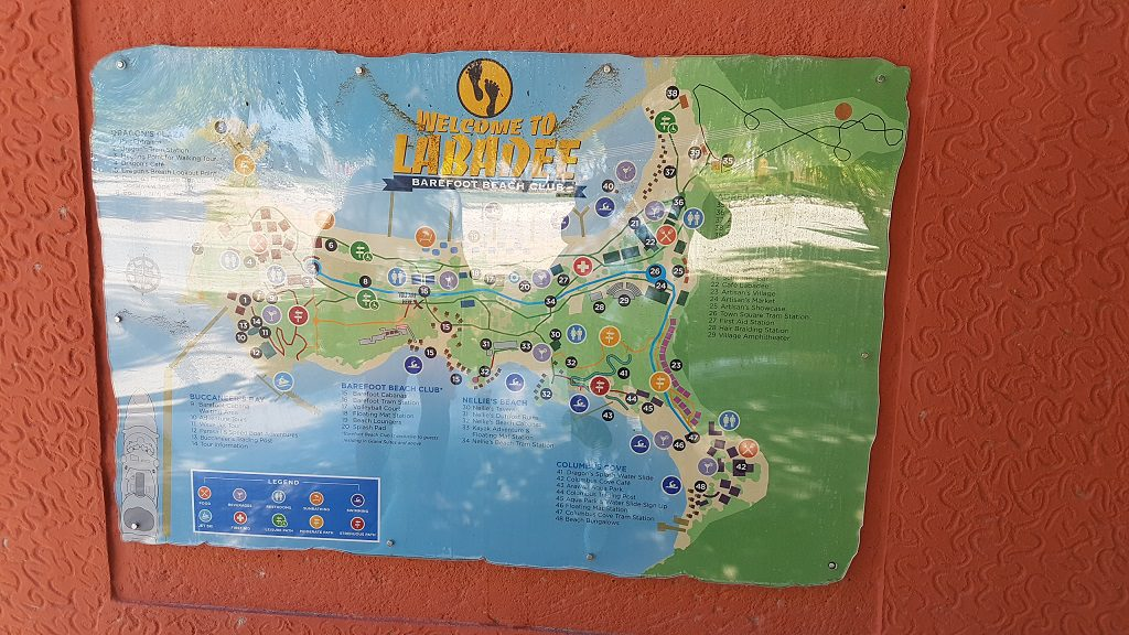 Allure of the Seas Labadee Karte