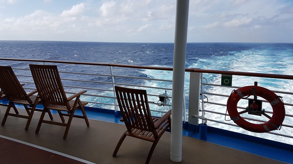 Allure of the Seas Toller Platz am Heck