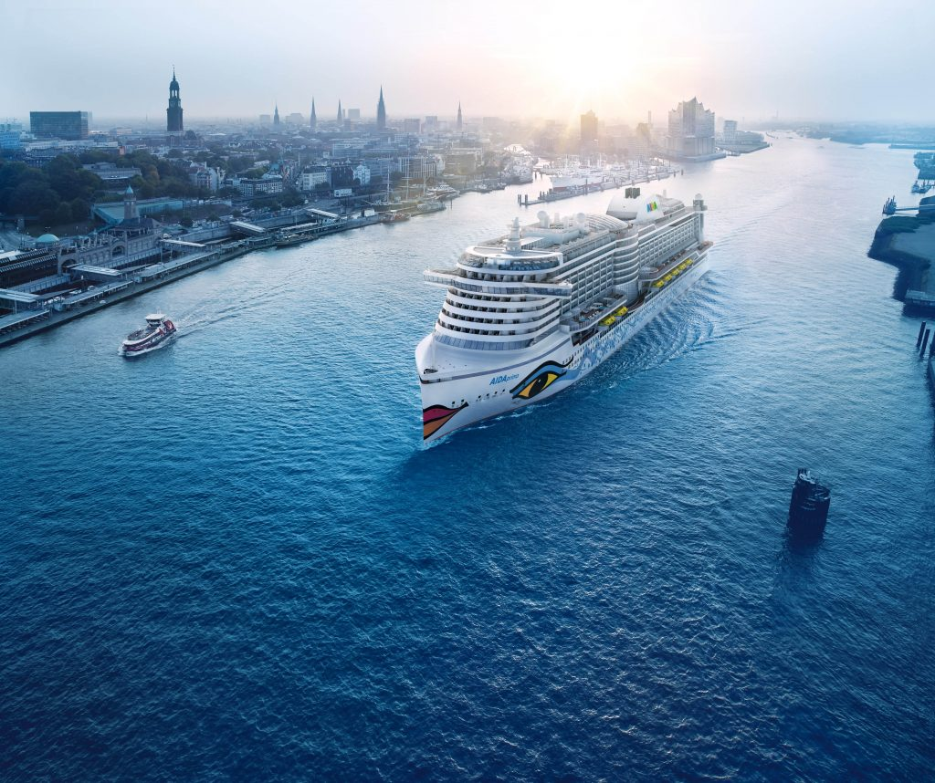 AIDAprima Aida Cruises in Hamburg