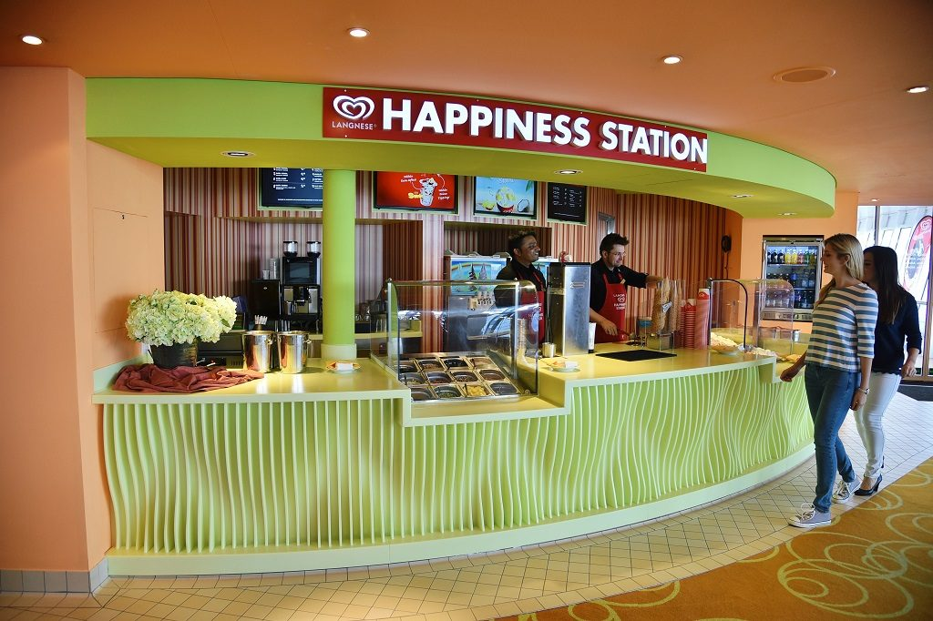 AIDAblu Langnese Happiness Station