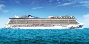 Norwegian Escape legt am 18.09.2015 ab