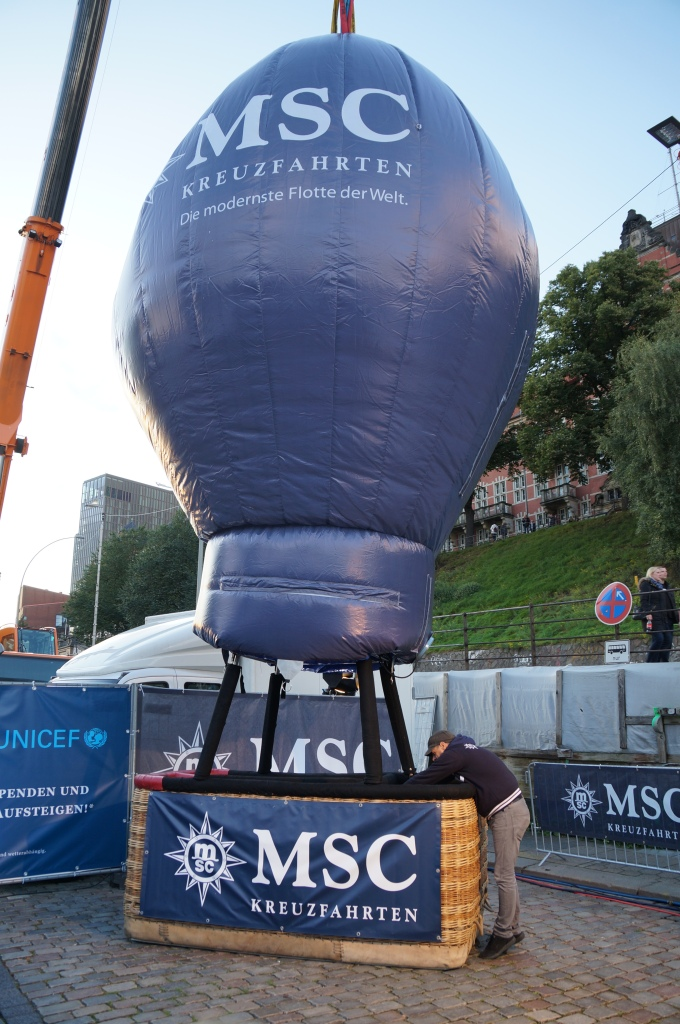 MSC Ballon auf den Hamburg Cruise Days