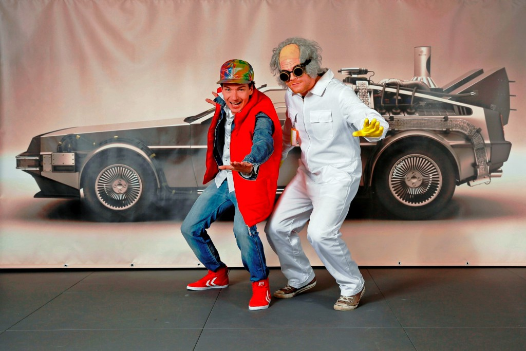 AIDA Cruises Marty McFly und Doc Brown