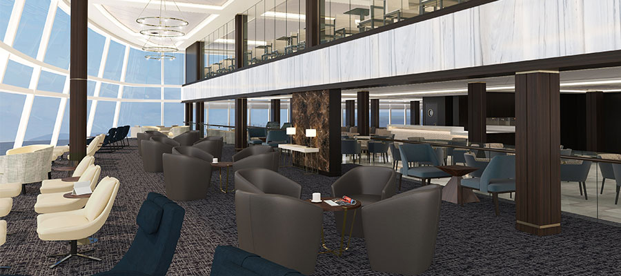 Norwegian Cruise Line NCL Joy Concierge lounge Kreuzfahrt