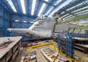 Ausdocken der Norwegian Escape